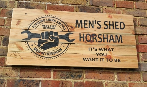 Sign on Horsham Men's Shed